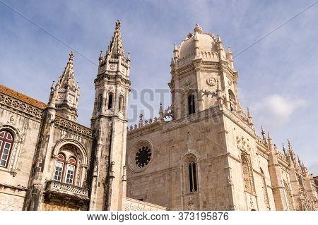 Lisbon, Portugal - 2 March 2020: The Jeronimos Monastery Or Hieronymites Monastery