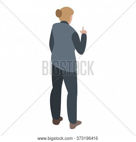 Rage Woman Icon. Isometric Of Rage Woman Vector Icon For Web Design Isolated On White Background