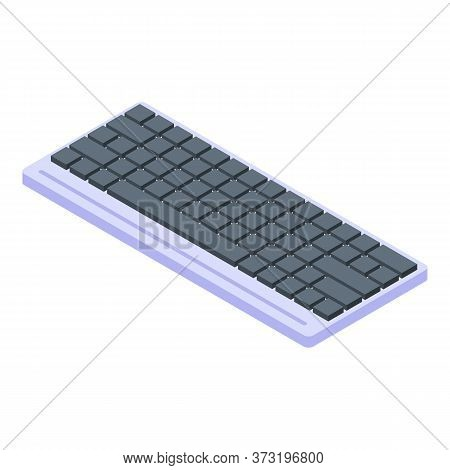 Keyboard Icon. Isometric Of Keyboard Vector Icon For Web Design Isolated On White Background
