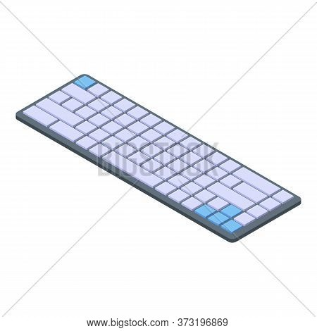 Programming Keyboard Icon. Isometric Of Programming Keyboard Vector Icon For Web Design Isolated On