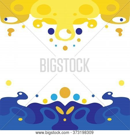 A Combination Of Contrasting And Complementary Colors. Blue And Yellow Colors.