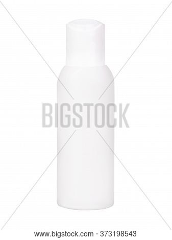 White Simple Blank Bottle For Antiseptic Spray Isolated On A White Background