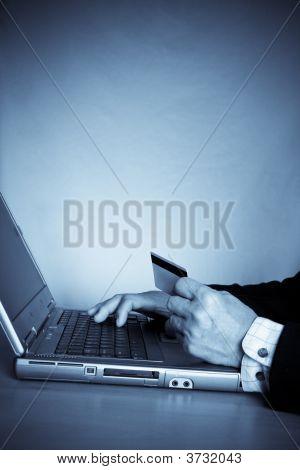 Senior Businessman Online Shopping