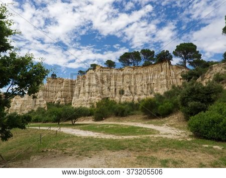 Organs In Ille Sur Tet, An Impressive Geological Formation Elevating From The Ground After Years Of