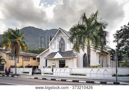 Victoria, Seychelles - February 3th, 2019: The View Of The Anglican St Paul Cathedral Victoria In Th