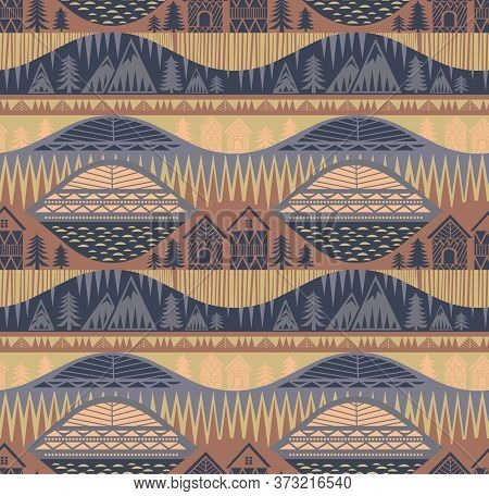Norway Pattern Seamless Design. Decoration Textile And Paper Series