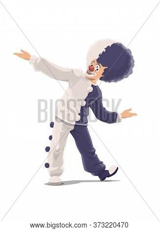 Clown, Circus And Big Top Cartoon Chapiteau Or Shapito Funfair Carnival Vector Icon. Big Top Circus