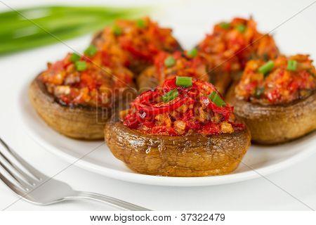 Stuffes mushrooms