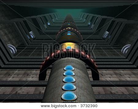 Fantasy Alien Computer Generated Constructions