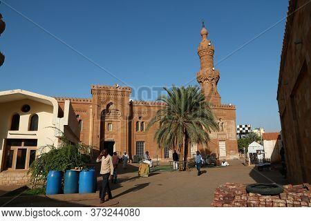 Khartoum / Sudan - 18 Feb 2017: Grand Mosque, Khartoum, Sudan