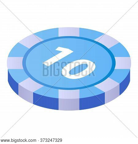 Casino Chip Icon. Isometric Of Casino Chip Vector Icon For Web Design Isolated On White Background