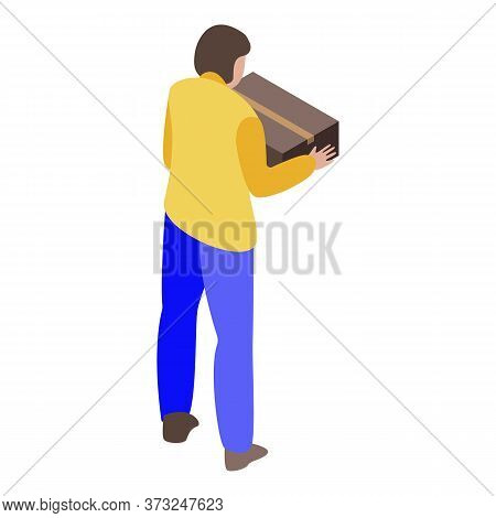 Client Receive Parcel Icon. Isometric Of Client Receive Parcel Vector Icon For Web Design Isolated O