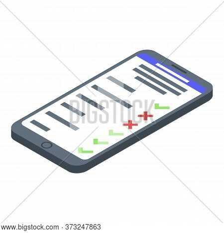Smartphone Parcel Tracking Icon. Isometric Of Smartphone Parcel Tracking Vector Icon For Web Design