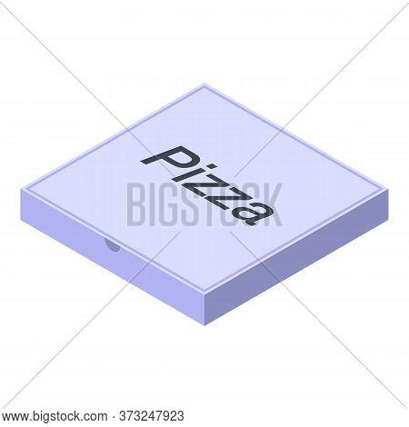 Pizza Carton Box Icon. Isometric Of Pizza Carton Box Vector Icon For Web Design Isolated On White Ba
