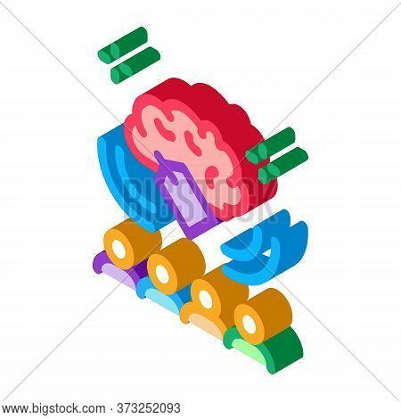 Price People Brainstorm Icon Vector. Isometric Price People Brainstorm Sign. Color Isolated Symbol I