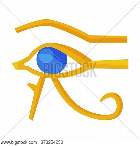 Eye Of Horus Egypt Deity, Eye Of Ra, Egyptian Hieroglyphic Mystical Sign, Ancient Symbol Of Egypt Fl