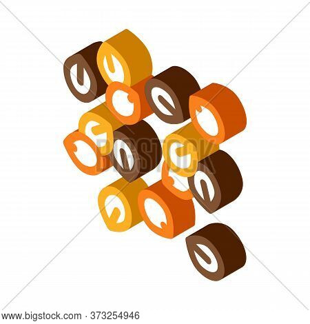Nuts Seeds Icon Vector. Isometric Nuts Seeds Sign. Color Isolated Symbol Illustration