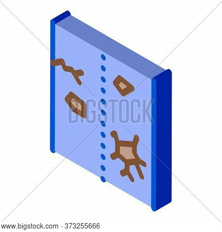 Broken Road Icon Vector. Isometric Broken Road Sign. Color Isolated Symbol Illustration