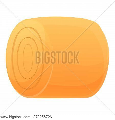 Wheat Roll Icon. Cartoon Of Wheat Roll Vector Icon For Web Design Isolated On White Background