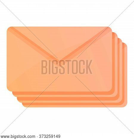 Postal Letter Icon. Cartoon Of Postal Letter Vector Icon For Web Design Isolated On White Background