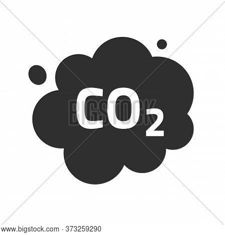 Carbon Co2 Pollution Emission Cloud Vector Icon, Dioxide Smoke Exhaust Bubble Flat Symbol Illustrati
