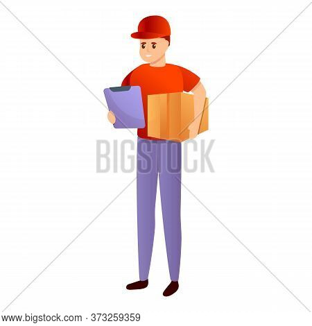 Fast Courier Delivery Icon. Cartoon Of Fast Courier Delivery Vector Icon For Web Design Isolated On