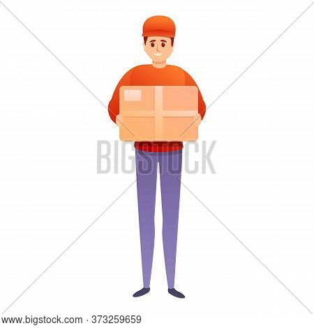 Postman Parcel Icon. Cartoon Of Postman Parcel Vector Icon For Web Design Isolated On White Backgrou