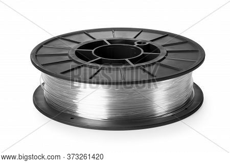 Clear Filament 3d Printer Isolated On White Background