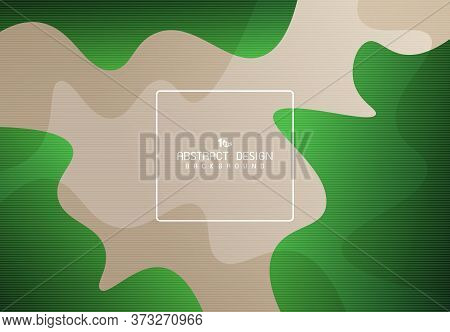 Abstract Gradient Green Free Shape Pattern Design Of Nature Concept Background. Decorate For Ad, Pos