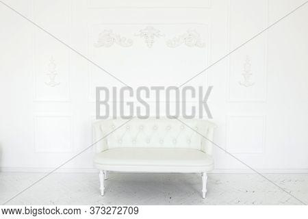 Modern Comfort Sofa On White Background