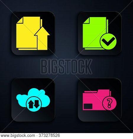 Set Unknown Document Folder, Upload File Document, Cloud Download And Upload And Document And Check