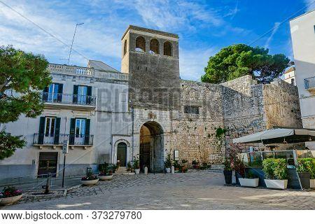 Perspective Of The Porta Tarantina Of Conversano. Puglia. Italy.