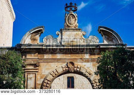 Swabian Castle Of Conversano. Puglia. Southern Italy.