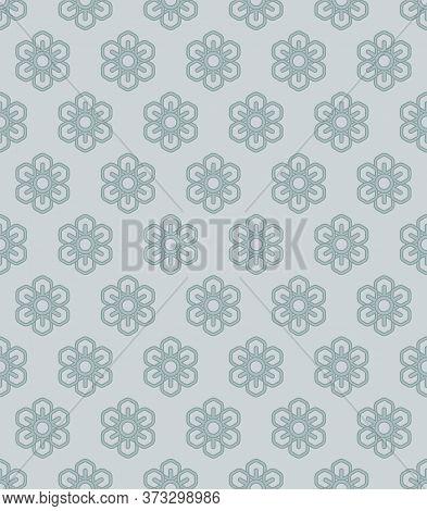 Retro Vintage Chinese Traditional Pattern Seamless Background Polygon Petal Flower Kaleidoscope