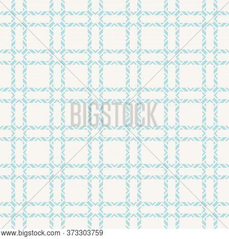 Subtle Ornamental Grid Texture. Vector Seamless Pattern With Square Net, Lattice, Mesh, Grill. Elega