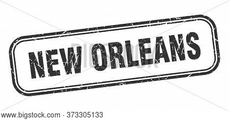 New Orleans Stamp. New Orleans Black Grunge Isolated Sign