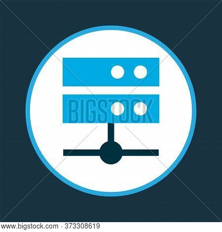 Media Server Icon Colored Symbol. Premium Quality Isolated Datacenter Element In Trendy Style.