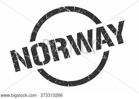 Norway Stamp. Norway Grunge Round Isolated Sign