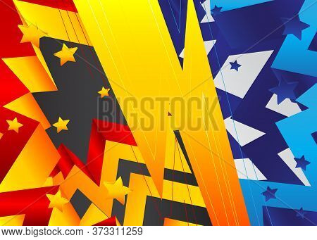Premium Exclusive Contrast Background. Vector Abstract Gradient Graphic Design.