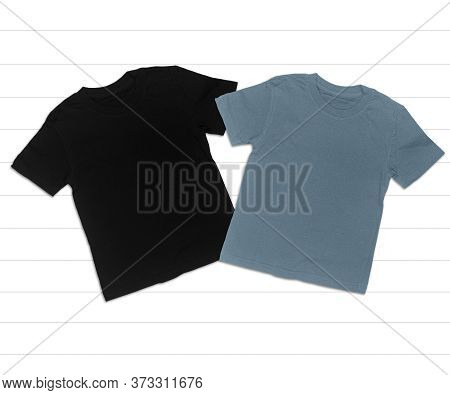 Black And Gray T-shirt Mockup On White Background, Adult T-shirts, Heather Grey And Black T-shirt,