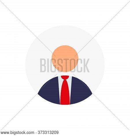 Default Businessman Avatar Profile Vector In Trendy Flat Style. User Social Media Icon Illustration