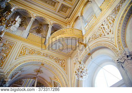 Pavilion Hall, Hermitage Museum In St. Petersburg, Russia, Hermitage Is One Of The Largest And Oldes