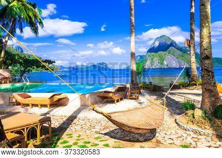 Tropical holidays - exotic islands oF El Nido. Palawan, Philippines.