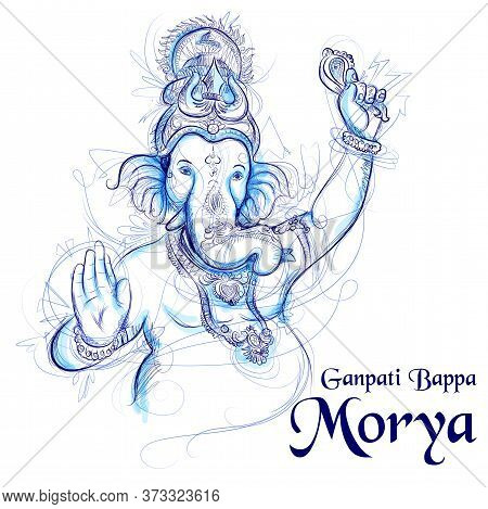 Illustration Of Lord Ganpati Background For Ganesh Chaturthi Festival Of India With Message Meaning