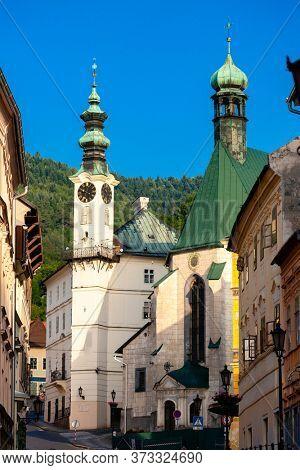central square, Banska Stiavnica, Slovakia