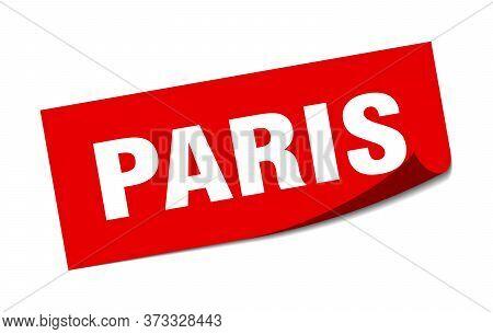 Paris Sticker. Paris Red Square Peeler Sign