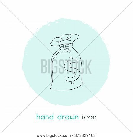 Sack Of Dollars Icon Line Element. Vector Illustration Of Sack Of Dollars Icon Line Isolated On Clea