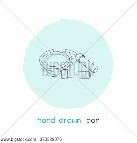 Jumping Rope Icon Line Element. Vector Illustration Of Jumping Rope Icon Line Isolated On Clean Back