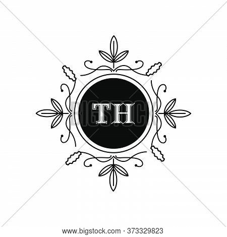 Initial Letter Th Retro Logo Design Template For Business Company And Brand Identity