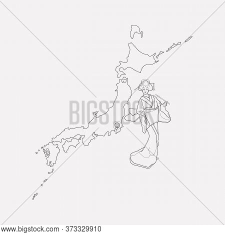 Japan Icon Line Element. Vector Illustration Of Japan Icon Line Isolated On Clean Background For You